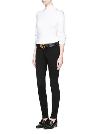 Figure View - Click To Enlarge - J BRAND - 'Luxe Sateen' super skinny jeans