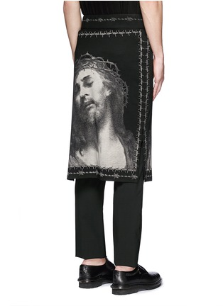 Back View - Click To Enlarge - Givenchy - Barb wire Jesus print skirt