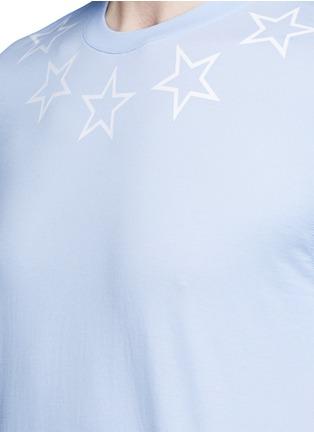 Detail View - Click To Enlarge - Givenchy - Star print cotton slub T-shirt