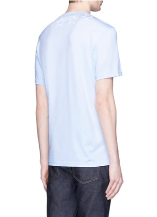 Back View - Click To Enlarge - Givenchy - Star print cotton slub T-shirt