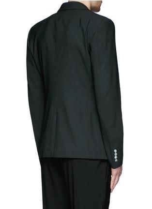 Back View - Click To Enlarge - Dolce & Gabbana - Peak lapel stretch wool blazer