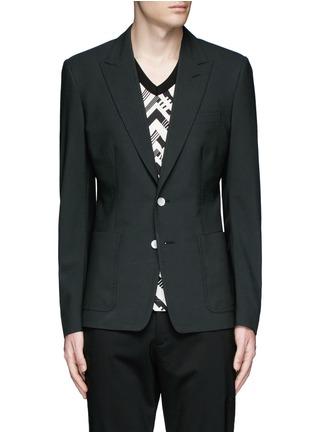 Main View - Click To Enlarge - Dolce & Gabbana - Peak lapel stretch wool blazer