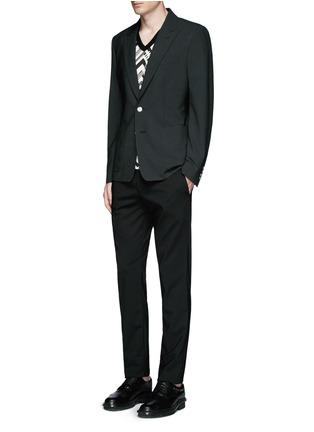 Figure View - Click To Enlarge - Dolce & Gabbana - Peak lapel stretch wool blazer