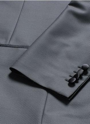- - - 'Sicilia' check jacquard three piece tuxedo suit
