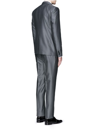 Back View - Click To Enlarge - Dolce & Gabbana - 'Sicilia' check jacquard three piece tuxedo suit