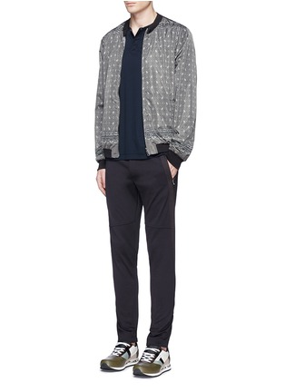 Figure View - Click To Enlarge - Dolce & Gabbana - Reversible monkey bandana print blouson jacket