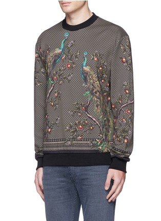 Front View - Click To Enlarge - Dolce & Gabbana - Peacock print sweatshirt