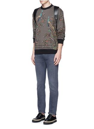 Figure View - Click To Enlarge - Dolce & Gabbana - Peacock print sweatshirt