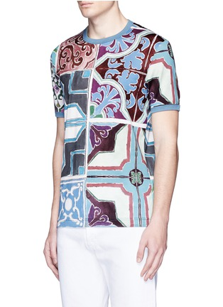 Front View - Click To Enlarge - - - Mosaic print T-shirt