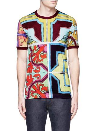 Main View - Click To Enlarge - Dolce & Gabbana - Mosaic print T-shirt