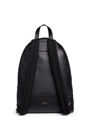 Back View - Click To Enlarge - Givenchy - Logo print leather backpack