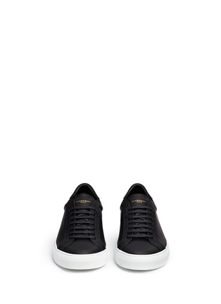 Front View - Click To Enlarge - Givenchy - 'Paris 17' leather low top sneakers