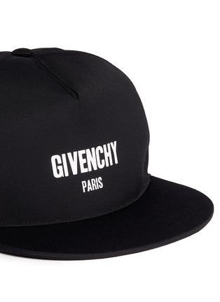 Detail View - Click To Enlarge - GIVENCHY - Logo print snapback cap