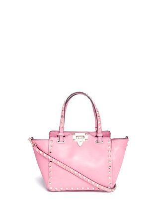 Main View - Click To Enlarge - Valentino - 'Rockstud' mini leather tote