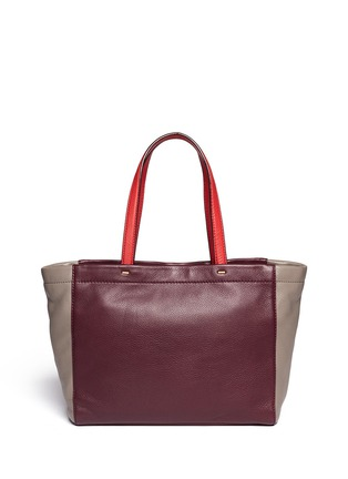Back View - Click To Enlarge - Marc by Marc Jacobs - 'What's the T colour-block leather tote