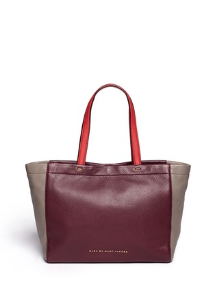 Main View - Click To Enlarge - Marc by Marc Jacobs - 'What's the T colour-block leather tote