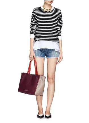 Figure View - Click To Enlarge - Marc by Marc Jacobs - 'What's the T colour-block leather tote