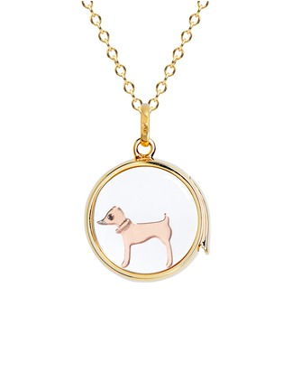 Figure View - Click To Enlarge - LOQUET LONDON - Sapphire 18k yellow gold Chinese New Year charm – Dog