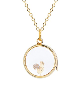 Figure View - Click To Enlarge - LOQUET LONDON - 18k yellow gold diamond Chinese New Year charm - Rooster