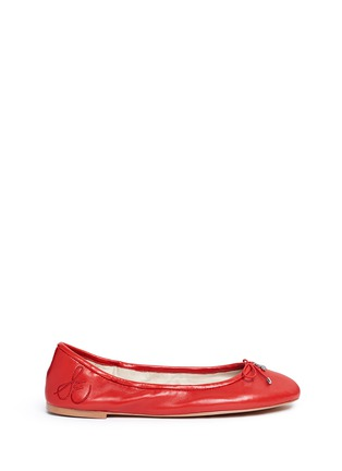 Main View - Click To Enlarge - Sam Edelman - 'Felicia' leather ballet flats