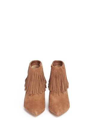Front View - Click To Enlarge - Sam Edelman - 'Kandice' fringe suede ankle boots