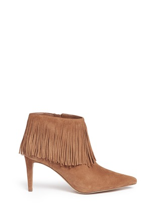 Main View - Click To Enlarge - Sam Edelman - 'Kandice' fringe suede ankle boots