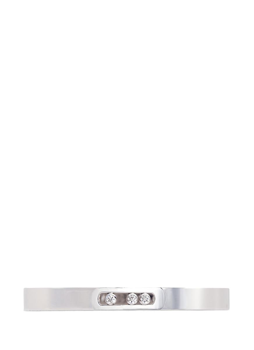 Messika 'Move Noa M' diamond 18k white gold bangle