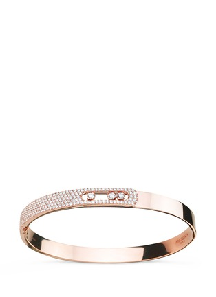 Main View - Click To Enlarge - Messika - 'Move Noa Pavé' diamond 18k rose gold bangle