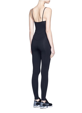 Back View - Click To Enlarge - LIVE THE PROCESS - Jersey camisole corset unitard jumpsuit