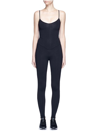 Main View - Click To Enlarge - LIVE THE PROCESS - Jersey camisole corset unitard jumpsuit