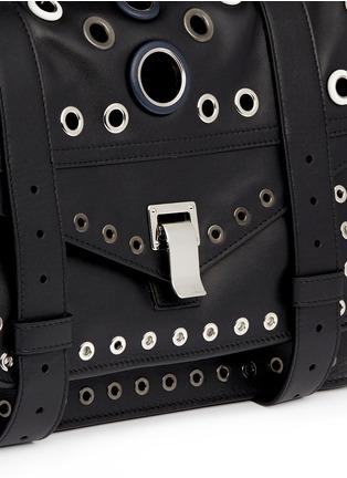 Detail View - Click To Enlarge - Proenza Schouler - 'PS1' medium variegated grommet leather satchel