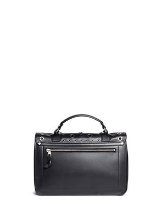 Back View - Click To Enlarge - Proenza Schouler - 'PS1' medium variegated grommet leather satchel