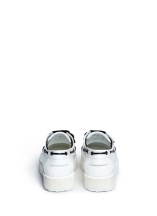 Back View - Click To Enlarge - Pierre Hardy - Knot print patent leather platform loafers