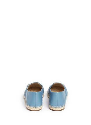 Back View - Click To Enlarge - Michael Kors - 'Kendrick' leather espadrille slip-ons