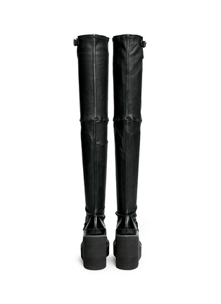 Back View - Click To Enlarge - SACAI - Thigh high leather loafer wedge boots