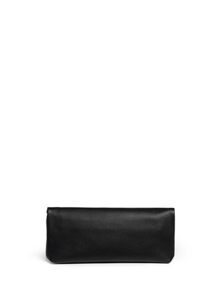 Back View - Click To Enlarge - Alexander McQueen - 'Padlock' leather clutch
