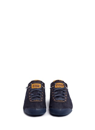 Front View - Click To Enlarge - Onitsuka Tiger - 'Mexico 66' unisex denim sneakers
