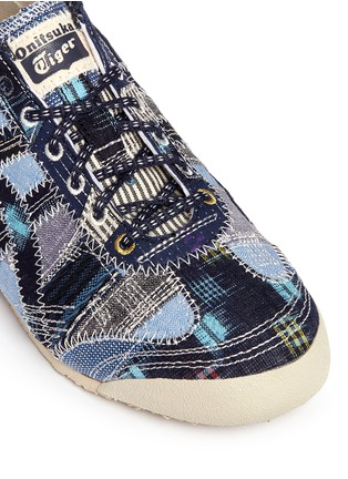 Detail View - Click To Enlarge - ONITSUKA TIGER - 'Mexico 66' unisex denim patchwork sneakers