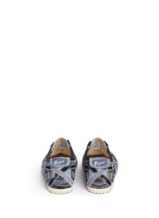 Back View - Click To Enlarge - Onitsuka Tiger - 'Mexico 66' unisex denim patchwork sneakers