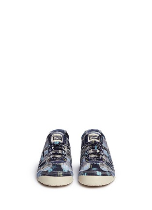 Front View - Click To Enlarge - ONITSUKA TIGER - 'Mexico 66' unisex denim patchwork sneakers