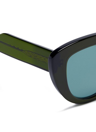 Detail View - Click To Enlarge - Marni - 'Prisma' contrast acetate cat eye sunglasses
