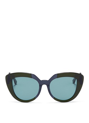 Main View - Click To Enlarge - Marni - 'Prisma' contrast acetate cat eye sunglasses