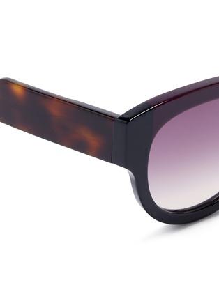 Detail View - Click To Enlarge - Marni - Tortoiseshell effect temple colourblock acetate sunglasses