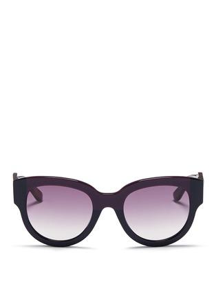 Main View - Click To Enlarge - Marni - Tortoiseshell effect temple colourblock acetate sunglasses