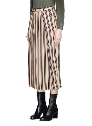 Front View - Click To Enlarge - Dries Van Noten - Front vent stripe skirt