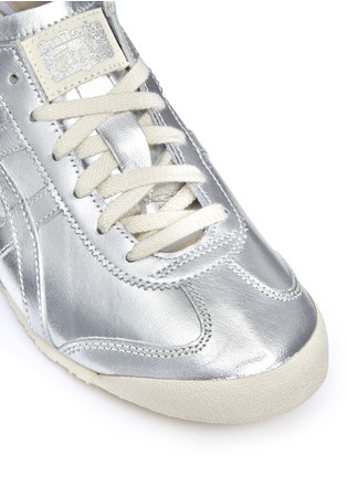 Detail View - Click To Enlarge - Onitsuka Tiger - 'Mexico 66' unisex metallic leather sneakers