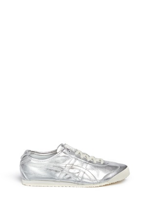 Main View - Click To Enlarge - Onitsuka Tiger - 'Mexico 66' unisex metallic leather sneakers