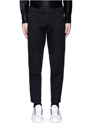 Main View - Click To Enlarge - rag & bone - 'Moto' zip cuff seamed knee pant