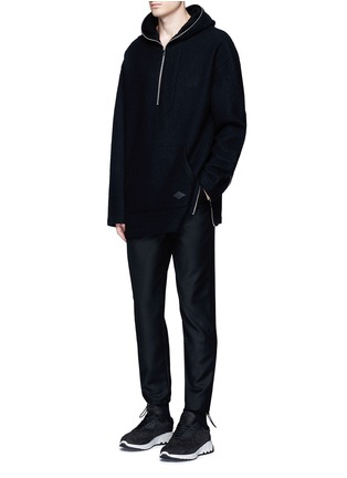 Figure View - Click To Enlarge - rag & bone - 'Drexel' French terry patch wool hoodie