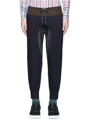 Main View - Click To Enlarge - KOLOR - Contrast gusset jogging pants